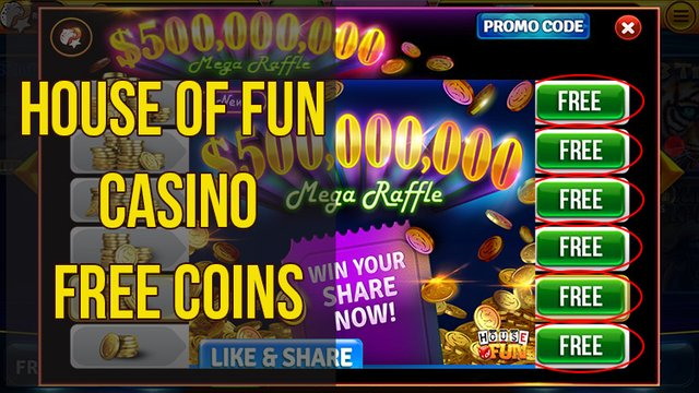 House of Fun free Coins & Unlimited Freebies | Woteva Games
